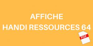 AFFICHE HANDI RESSOURCES 64